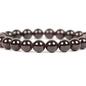 Shop Garnet Bracelets! Garnet Bracelet, Handmade Gemstone Jewelry, Genuine Garnet 8mm Beads Bracelet, Stretch Stacking Energy Bracelet | Natural genuine Garnet bracelets. Buy crystal jewelry, handmade handcrafted artisan jewelry for women.  Unique handmade gift ideas. #jewelry #beadedbracelets #beadedjewelry #gift #shopping #handmadejewelry #fashion #style #product #bracelets #affiliate #ad