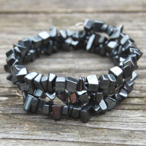 Hematite Gemstone Spiral Wrap Bracelet Project