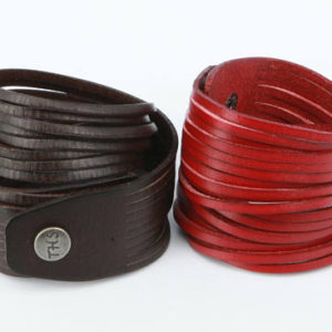 Genuine Leather Wrap Bracelet. Multi-strand Real Leather Cuff. Stacked Sliced Leather Bangle Bracelets Wide Double Wrap Bracelets B001A |  #affiliate