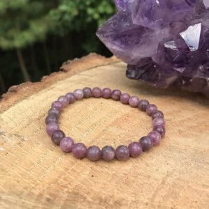 Lilac Lepidolite Bracelet | Chakra Healing Crystal | Stress | Tension | EMF Smog | Balance | Lithium | Pink Purple His Hers Unisex | Natural genuine Lepidolite bracelets. Buy crystal jewelry, handmade handcrafted artisan jewelry for women.  Unique handmade gift ideas. #jewelry #beadedbracelets #beadedjewelry #gift #shopping #handmadejewelry #fashion #style #product #bracelets #affiliate #ad