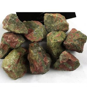 "Shop Raw & Rough Unakite Stones! Half Pound Rough Unakite Stones Large 1"" Natural Raw Healing Crystal Gemstones For Creating All Kinds Of Jewelry, Healing Stone Properties 