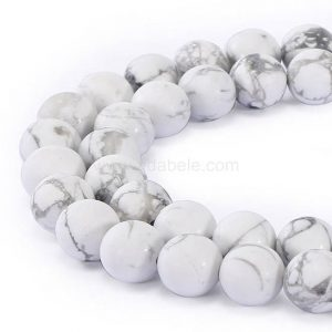 "Shop Howlite Beads! You Pick Aaa Natural Howlite Gemstone 4mm 6mm 8mm 10mm Loose Round Beads Spacer Beads 15.5"" (1 Strand) Gy4 