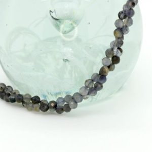 Shop Iolite Beads! Natural Iolite Faceted Round Sphere Ball Loose Gemstone Bead Beads 2mm 3mm 4mm Full Strand | Natural genuine gemstone beads for making jewelry in various shapes & sizes. Buy crystal beads raw cut or polished for making handmade homemade handcrafted jewelry. #jewelry #beads #beadedjewelry #product #diy #diyjewelry #shopping #craft #product
