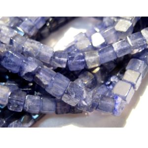 5mm Iolite Plain Cubes, Vilet Blue Iolite Plain Box Beads, Blue Iolite Beads For Necklace, Iolite (8IN To 16IN Options) – IPC2 | Natural genuine other-shape Iolite beads for beading and jewelry making.  #jewelry #beads #beadedjewelry #diyjewelry #jewelrymaking #beadstore #beading #affiliate #ad