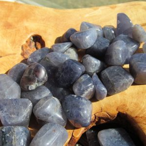 Shop Tumbled Iolite Crystals & Pocket Stones! Iolite Medium Tumbled Stone T44 | Natural genuine stones & crystals in various shapes & sizes. Buy raw cut, tumbled, or polished gemstones for making jewelry or crystal healing energy vibration raising reiki stones. #crystals #gemstones #crystalhealing #crystalsandgemstones #energyhealing #affiliate #ad