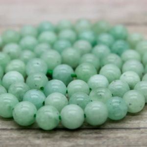 Shop Jade Beads! Burma Round Jade Bead Natural Gemstone (4mm 6mm 8mm 10mm 12mm) | Natural genuine beads Jade beads for beading and jewelry making.  #jewelry #beads #beadedjewelry #diyjewelry #jewelrymaking #beadstore #beading #affiliate #ad