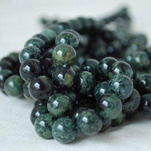 "Shop Jasper Beads! High Quality Grade A Natural Kambaba Jasper (green) Semi-precious Gemstone Round Beads – 4mm, 6mm, 8mm, 10mm sizes – 15.5"" strand 