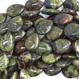"Shop Jasper Bead Shapes! 18mm dragon blood jasper flat teardrop beads 16"" strand 36672 