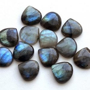 Shop Labradorite Cabochons! 5 Pcs Labradorite Plain Heart Cabochons, Labradorite Flat Back Cabochons, Loose Labradorite Blue Fire Stone, 19-20mm – KS3280 | Natural genuine stones & crystals in various shapes & sizes. Buy raw cut, tumbled, or polished gemstones for making jewelry or crystal healing energy vibration raising reiki stones. #crystals #gemstones #crystalhealing #crystalsandgemstones #energyhealing #affiliate #ad