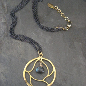 Labradorite Pendant, Branch Necklace, Circle Pendant, Mixed Metal, | Natural genuine Labradorite pendants. Buy crystal jewelry, handmade handcrafted artisan jewelry for women.  Unique handmade gift ideas. #jewelry #beadedpendants #beadedjewelry #gift #shopping #handmadejewelry #fashion #style #product #pendants #affiliate #ad