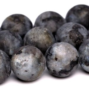 Matte Black Labradorite Larvikite Beads Grade A Genuine Natural Gemstone Round Loose Beads 4MM 6MM 8MM 10MM 15MM Bulk Lot Options | Natural genuine round Labradorite beads for beading and jewelry making.  #jewelry #beads #beadedjewelry #diyjewelry #jewelrymaking #beadstore #beading #affiliate #ad