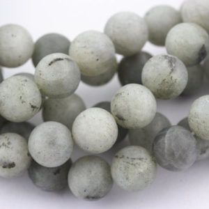 Shop Labradorite Round Beads! Nice Matte White Labradorite Gemstone Round Loose Beads 15.5'' Long Size 4mm 6mm/8mm/10mm/12mm R-M-LAB-0172 | Natural genuine round Labradorite beads for beading and jewelry making.  #jewelry #beads #beadedjewelry #diyjewelry #jewelrymaking #beadstore #beading #affiliate #ad
