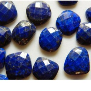 Shop Lapis Lazuli Stones & Crystals! Lapis Lazuli Natural Cabochon Blue Rose Cut Gemstones Stone Faceted Cabochon 5 Pieces 10x11mm To 13x15mm Each | Natural genuine stones & crystals in various shapes & sizes. Buy raw cut, tumbled, or polished gemstones for making jewelry or crystal healing energy vibration raising reiki stones. #crystals #gemstones #crystalhealing #crystalsandgemstones #energyhealing #affiliate #ad