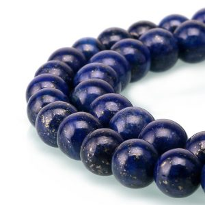 "Shop Lapis Lazuli Round Beads! Lapis Lazuli Smooth Round Beads 2mm 3mm 4mm 6mm 8mm 10mm 12mm-20mm 15.5"" Strand 