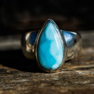 Shop Larimar Rings! Larimar Ring 7.5 – Larimar Ring – Blue Larimar Ring size 7.5 – Larimar – Blue Pectolite Ring – Genuine Larimar Ring – Larimar Ring | Natural genuine Larimar rings, simple unique handcrafted gemstone rings. #rings #jewelry #shopping #gift #handmade #fashion #style #affiliate #ad