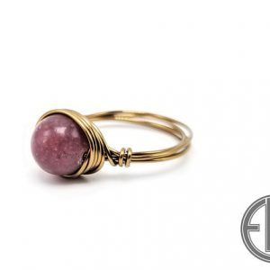 "Shop Lepidolite Rings! Lepidolite ""Simplicity"" Ring (5/25) 