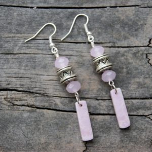 Shop Lepidolite Earrings! Lost in a Dream Lepidolite Earrings | Natural genuine Lepidolite earrings. Buy crystal jewelry, handmade handcrafted artisan jewelry for women.  Unique handmade gift ideas. #jewelry #beadedearrings #beadedjewelry #gift #shopping #handmadejewelry #fashion #style #product #earrings #affiliate #ad
