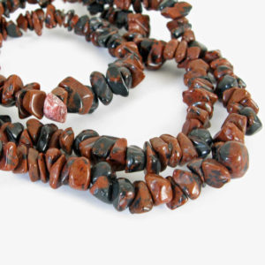 Mahogany Obsidian Beads, Chip Beads, Long Strand, Mahogany Obsidian Chip Beads, 34 Inch Strand, Obs201 | Natural genuine chip Obsidian beads for beading and jewelry making.  #jewelry #beads #beadedjewelry #diyjewelry #jewelrymaking #beadstore #beading #affiliate #ad