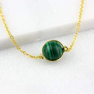 Shop Malachite Pendants! Malachite Pendant / Malachite Wire Wrap / Green Orb Pendant / Dainty Green Pendant / Green Stone Pendant | Natural genuine Malachite pendants. Buy crystal jewelry, handmade handcrafted artisan jewelry for women.  Unique handmade gift ideas. #jewelry #beadedpendants #beadedjewelry #gift #shopping #handmadejewelry #fashion #style #product #pendants #affiliate #ad