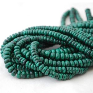 "Shop Malachite Beads! High Quality Grade A Natural Malachite Semi-precious Gemstone Rondelle / Spacer Beads – 6mm, 8mm Sizes – 15.5"" Strand 