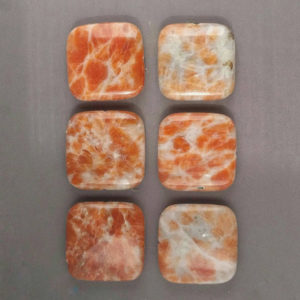 Shop Calcite Beads! Marmalade Orange Calcite Bead Square Shimmer Pendant Bead 30mm | Natural genuine other-shape Calcite beads for beading and jewelry making.  #jewelry #beads #beadedjewelry #diyjewelry #jewelrymaking #beadstore #beading #affiliate #ad