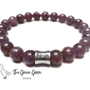 Shop Lepidolite Bracelets! Maroon Purple Lepidolite Bracelet, Rare Lepidolite Bracelet, Mens Lepidolite Bracelet, Chakra Bracelet, Spiritual Jewelry, Healing Crystals | Natural genuine gemstone jewelry in modern, chic, boho, elegant styles. Buy crystal handmade handcrafted artisan art jewelry & accessories. #jewelry #beaded #beadedjewelry #product #gifts #shopping #style #fashion #product
