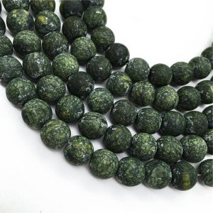 Shop Serpentine Round Beads! Matte Russian Serpentine Round Beads,6mm 8mm 10mm 12mm Gemstone Beads Approx 15.5 Inch Strand | Natural genuine round Serpentine beads for beading and jewelry making.  #jewelry #beads #beadedjewelry #diyjewelry #jewelrymaking #beadstore #beading #affiliate #ad