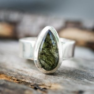 Shop Moldavite Jewelry! Moldavite Ring size 8 – Moldavite Jewelry – Half raw half Smooth Ring size 8 (unisex) Moldavite Ring size 8 – Moldavite Ring – raw moldavite | Natural genuine Moldavite jewelry. Buy crystal jewelry, handmade handcrafted artisan jewelry for women.  Unique handmade gift ideas. #jewelry #beadedjewelry #beadedjewelry #gift #shopping #handmadejewelry #fashion #style #product #jewelry #affiliate #ad