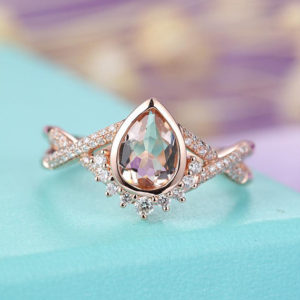 Shop Morganite Engagement Rings! Morganite engagement ring Rose gold engagement ring Vintage Art deco Antique Diamond Twisted Wedding Women Bridal Set Jewelry Promise Gift | Natural genuine Morganite rings, simple unique alternative gemstone engagement rings. #rings #jewelry #bridal #wedding #jewelryaccessories #engagementrings #weddingideas #affiliate #ad