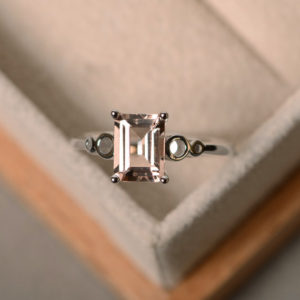 Shop Morganite Jewelry! Natural morganite ring, pink gemstone, sterling silver, engagement ring | Natural genuine Morganite jewelry. Buy handcrafted artisan wedding jewelry.  Unique handmade bridal jewelry gift ideas. #jewelry #beadedjewelry #gift #crystaljewelry #shopping #handmadejewelry #wedding #bridal #jewelry #affiliate #ad
