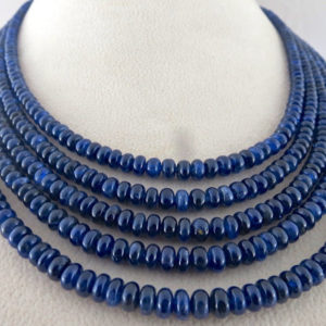 Shop Sapphire Necklaces! Natural Certified 581 Carats Blue SAPPHIRE Round BEADS NECKLACE Silk Cord | Natural genuine Sapphire necklaces. Buy crystal jewelry, handmade handcrafted artisan jewelry for women.  Unique handmade gift ideas. #jewelry #beadednecklaces #beadedjewelry #gift #shopping #handmadejewelry #fashion #style #product #necklaces #affiliate #ad