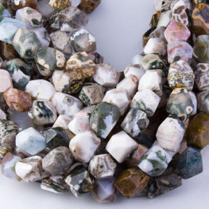 Shop Ocean Jasper Faceted Beads! Natural Ocean Jasper Faceted Nugget Beads, Semi-Precious Gemstones, Natural Beads, High Quality, DIY Beads, Priced per Strand, GS015J | Natural genuine faceted Ocean Jasper beads for beading and jewelry making.  #jewelry #beads #beadedjewelry #diyjewelry #jewelrymaking #beadstore #beading #affiliate #ad
