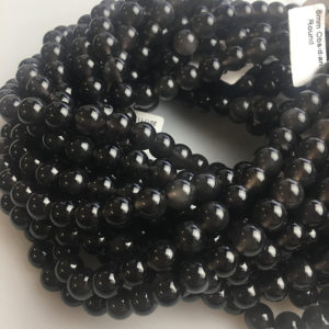 Shop Obsidian Beads! Natural Ice Obsidian Smooth Round Gemstone Loose Beads 15.5 Inches Per Strand, Size 8mm/10mm/12mm.GEM-171120-01 | Natural genuine beads Obsidian beads for beading and jewelry making.  #jewelry #beads #beadedjewelry #diyjewelry #jewelrymaking #beadstore #beading #affiliate