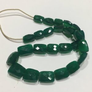 Shop Onyx Chip & Nugget Beads! Beautiful Green Onyx Rectangle Faceted Nuggets Beads, 9 / 12-11 / 15mm, Green Onyx Faceted Beads 13 Inch | Natural genuine chip Onyx beads for beading and jewelry making.  #jewelry #beads #beadedjewelry #diyjewelry #jewelrymaking #beadstore #beading #affiliate #ad