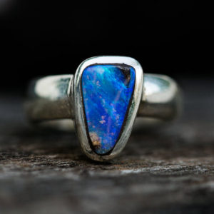Shop Opal Rings! Boulder Opal Ring Size 6 – Natural Opal Ring – Boulder Opal Sterling Silver Ring – Ring size 6 October Birthstone Ring – Boulder Opal Ring | Natural genuine Opal rings, simple unique handcrafted gemstone rings. #rings #jewelry #shopping #gift #handmade #fashion #style #affiliate #ad