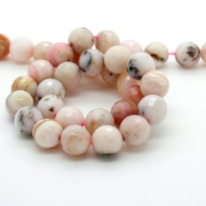Shop Opal Faceted Beads! Pink Opal Faceted Round Natural Gemstone Loose Beads – Full Strand (4mm, 6mm, 8mm, 10mm) | Natural genuine faceted Opal beads for beading and jewelry making.  #jewelry #beads #beadedjewelry #diyjewelry #jewelrymaking #beadstore #beading #affiliate