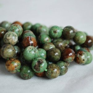 "Shop Opal Round Beads! High Quality Grade A Natural Green Opal Chalcedony Semi-precious Gemstone Round Beads – 4mm, 6mm, 8mm, 10mm sizes – 16"" strand 