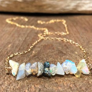 Shop Opal Jewelry! Raw Opal Necklace, Raw Opal Jewelry, Raw Stone Necklace, Rough Opal Jewelry, Rough Opal Necklace,  Rough Crystal Jewelry, Gift for Her | Natural genuine Opal jewelry. Buy crystal jewelry, handmade handcrafted artisan jewelry for women.  Unique handmade gift ideas. #jewelry #beadedjewelry #beadedjewelry #gift #shopping #handmadejewelry #fashion #style #product #jewelry #affiliate #ad
