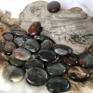 Shop Bloodstone Shapes! Palm Bloodstone | Natural genuine stones & crystals in various shapes & sizes. Buy raw cut, tumbled, or polished gemstones for making jewelry or crystal healing energy vibration raising reiki stones. #crystals #gemstones #crystalhealing #crystalsandgemstones #energyhealing #affiliate #ad