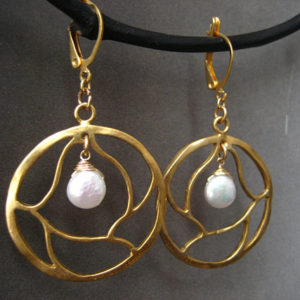 Shop Pearl Earrings! Circle Earrings, Pearl Dangle, Tree Branch, Round Drop, Freshwater Pearl, Gold Circle, Pearl Coin, Handmade | Natural genuine Pearl earrings. Buy crystal jewelry, handmade handcrafted artisan jewelry for women.  Unique handmade gift ideas. #jewelry #beadedearrings #beadedjewelry #gift #shopping #handmadejewelry #fashion #style #product #earrings #affiliate #ad