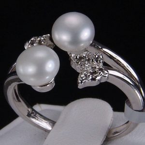 Shop Pearl Rings! 6mm Freshwater Cultured White Button Pearls 925 Solid Sterling Silver Butterfly Wrap Ring | Natural genuine gemstone jewelry in modern, chic, boho, elegant styles. Buy crystal handmade handcrafted artisan art jewelry & accessories. #jewelry #beaded #beadedjewelry #product #gifts #shopping #style #fashion #product