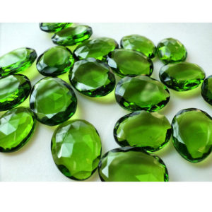 Shop Peridot Gemstones! Peridot Colored Quartz, Peridot Hydro Rose Cut, Quartz Rosecut, Flat Cabochons, Hydro Cabochon, Polki 12x15mm To 15x20mm Each,  5 Pieces | Natural genuine gemstones & crystals in various shapes & sizes. Buy raw cut, tumbled, or polished for making jewelry or crystal healing energy reiki stones. #crystals #gemstones #crystalhealing #crystalsandgemstones #energyhealing #affiliate