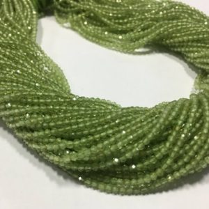 Shop Peridot Faceted Beads! Aaa Peridot Rondelle Faceted Micro Cut 2mm , 13 Inch Strand , pack Of 2 | Natural genuine faceted Peridot beads for beading and jewelry making.  #jewelry #beads #beadedjewelry #diyjewelry #jewelrymaking #beadstore #beading #affiliate #ad