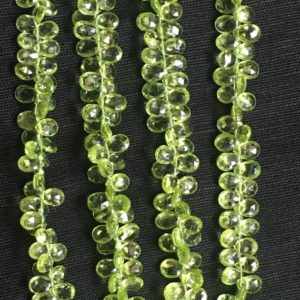 Shop Peridot Bead Shapes! 8 Inch Peridot Pear Shaped Faceted Beads, peridot Pear Briolettes | Natural genuine other-shape Peridot beads for beading and jewelry making.  #jewelry #beads #beadedjewelry #diyjewelry #jewelrymaking #beadstore #beading #affiliate