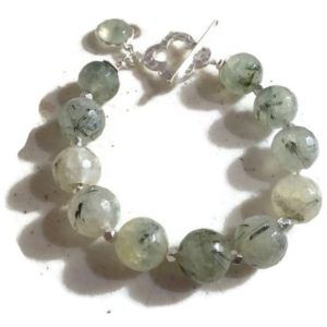 Shop Prehnite Bracelets! Prehnite Bracelet – Green Bracelet – Sterling Silver Jewellery – Gemstone Jewelry – Charm – Chunky – Fashion | Natural genuine Prehnite bracelets. Buy crystal jewelry, handmade handcrafted artisan jewelry for women.  Unique handmade gift ideas. #jewelry #beadedbracelets #beadedjewelry #gift #shopping #handmadejewelry #fashion #style #product #bracelets #affiliate #ad