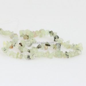 "Shop Prehnite Chip Beads! Aaa Natural Green Prehnite Gemstones Smooth Chips Beads Free-form Loose Beads ~8x5mm Beads For Jewelry Making (1 Strand, ~16"") Gz1-4 
