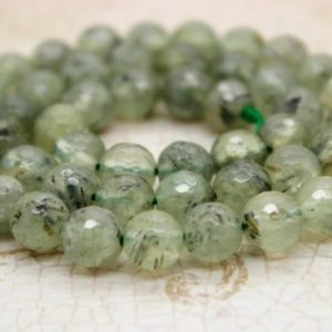 Shop Prehnite Round Beads! Prehnite Faceted Round Sphere Ball Natural Frosted Transparent Gemstone Beads 3mm 4mm 6mm 8mm 10mm 12mm | Natural genuine round Prehnite beads for beading and jewelry making.  #jewelry #beads #beadedjewelry #diyjewelry #jewelrymaking #beadstore #beading #affiliate #ad