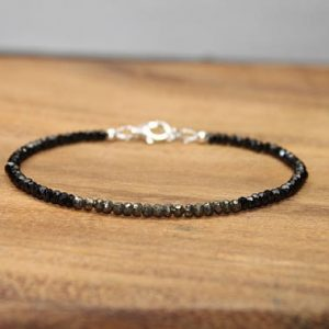 Shop Pyrite Bracelets! Black Spinel & Pyrite Bracelet, Fools Gold , Beaded, Stacking, Pyrite Jewelry, Gemstone Bracelet | Natural genuine gemstone jewelry in modern, chic, boho, elegant styles. Buy crystal handmade handcrafted artisan art jewelry & accessories. #jewelry #beaded #beadedjewelry #product #gifts #shopping #style #fashion #product