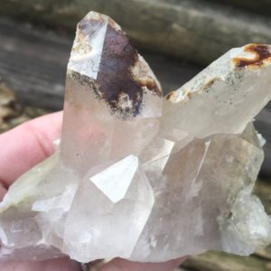 Shop Raw & Rough Quartz Stones! Gorgeous Colorful Lodolite Quartz Cluster | Natural genuine stones & crystals in various shapes & sizes. Buy raw cut, tumbled, or polished gemstones for making jewelry or crystal healing energy vibration raising reiki stones. #crystals #gemstones #crystalhealing #crystalsandgemstones #energyhealing #affiliate #ad