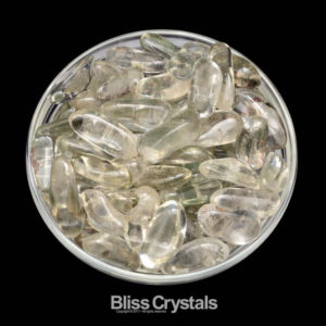 Shop Tumbled Quartz Crystals & Pocket Stones! 2 CHLORITE Quartz Tumbled Stones #CL01 | Natural genuine stones & crystals in various shapes & sizes. Buy raw cut, tumbled, or polished gemstones for making jewelry or crystal healing energy vibration raising reiki stones. #crystals #gemstones #crystalhealing #crystalsandgemstones #energyhealing #affiliate #ad